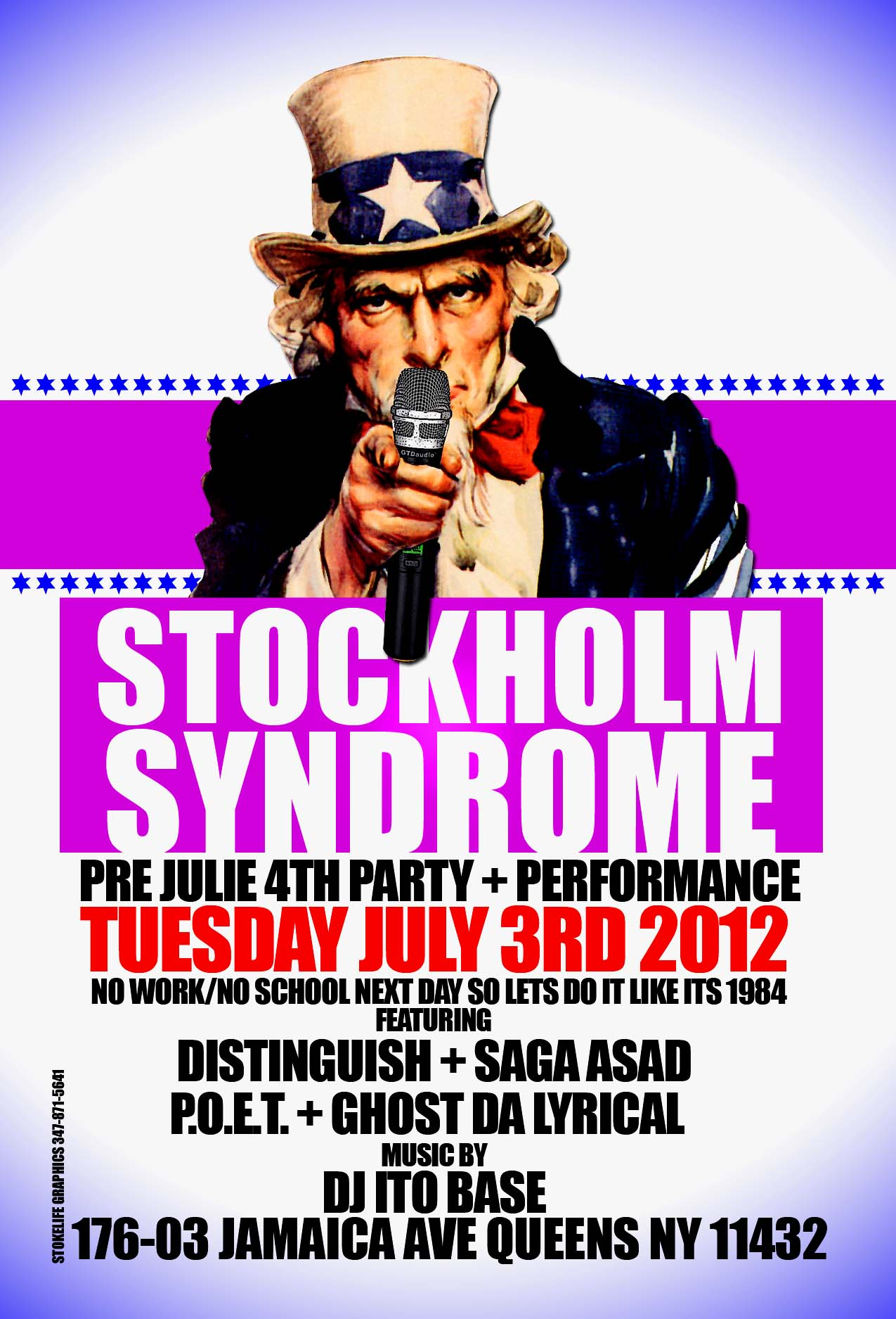 conscious ny hip hop party and show stockholm syndrome july 3rd 2012